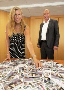 Ziehung der Gewinnkarten, Lissy Frah, Paul Schwarz VBAO